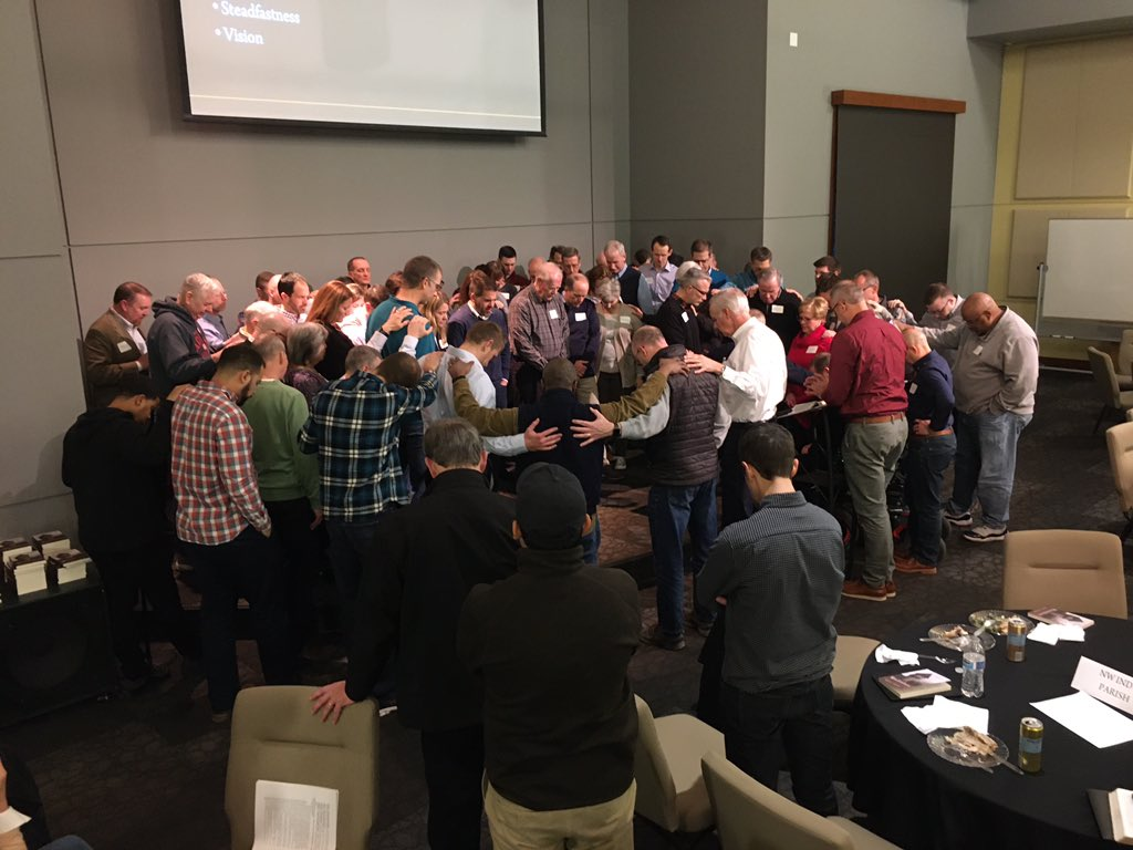 Tonight at @collegeparkindy we launched a revamped Deacon Ministry to serve as assistants to our Elders in our parish model.