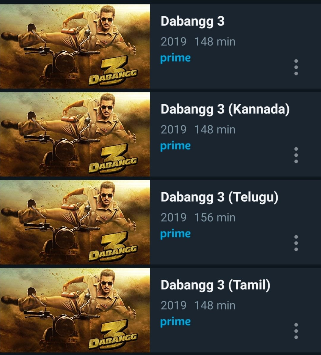 #DABANGG3 (2019) #Tamil #Telugu #Hindi #Kannada Now Streaming on @PrimeVideoIN  Follow 👉 @Thalapathysiv08 for OTT Updates 💥 💥 💥  #Master #MasterSingle #MasterSingleTrack #OruKuttiKathai #KuttiKathai #KuttyStory #SooraraiPottru #Karnan #Darbar #Pattas #F9