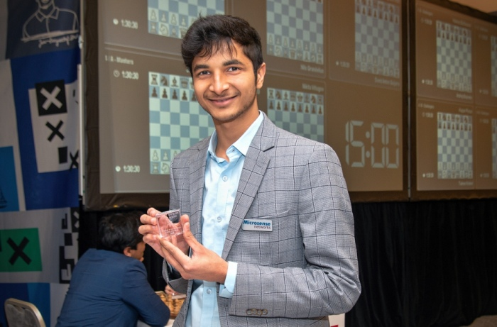 test Twitter Media - The leader of @PragueChess Vidit Santosh Gujrathi, the #26 in the rating list, has recently become the second player in the Indian chess hierarchy. After this event, Vidit might come very close to Vishy Anand.  Our halfway report on Prague #Chess Festival: https://t.co/aqtkoIFwyt https://t.co/GruT2ZltPr