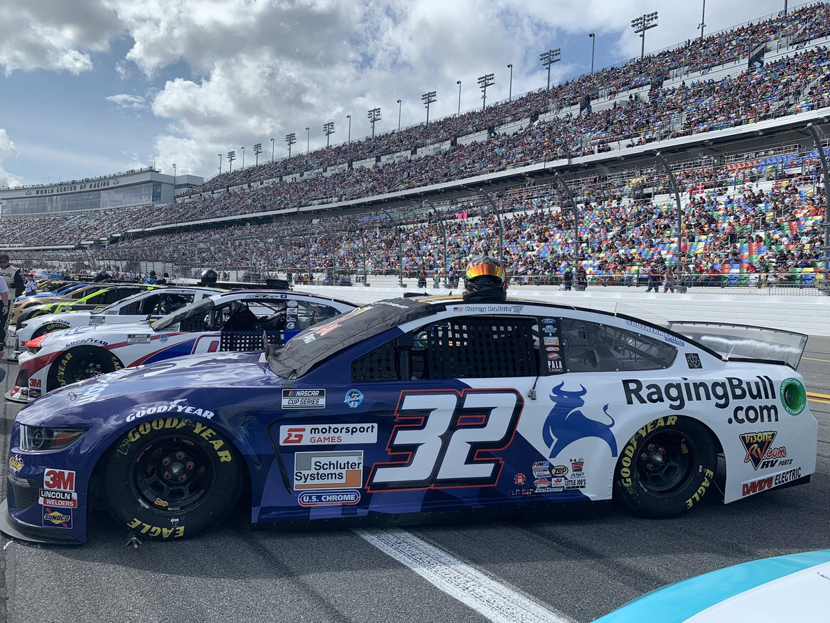 Our team is on the ground at the #DAYTONA500  with our  sponsored car! 🏎️  Go get us a win @CoreyLaJoie and the @GoFasRacing32 Team! 🏁
