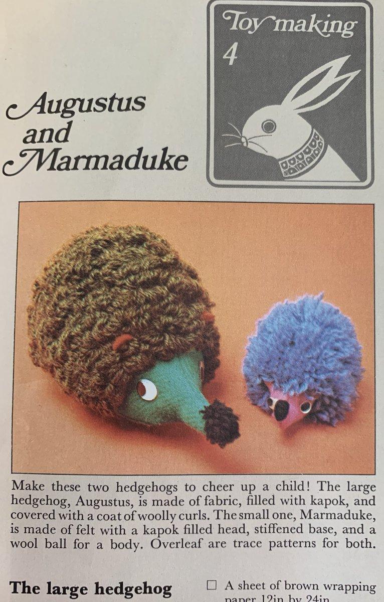 I just wanted a Malibu Barbie... #1970s #crafts @wonderfulcrafts #hedgehog #stuffedtoys