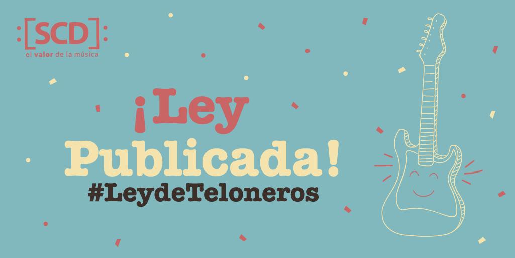 test Twitter Media - 🎉 ¡Hoy ha sido publicada en el Diario Oficial la #LeydeTeloneros! ⠀⠀⠀⠀⠀⠀⠀⠀⠀ ➡️ Revisa la noticia, además del documento oficial en donde se han plasmado las características de la ley N° 19.928 sobre Fomento de la #MúsicaChilena: https://t.co/hXiUqanr88 https://t.co/sginZilQar
