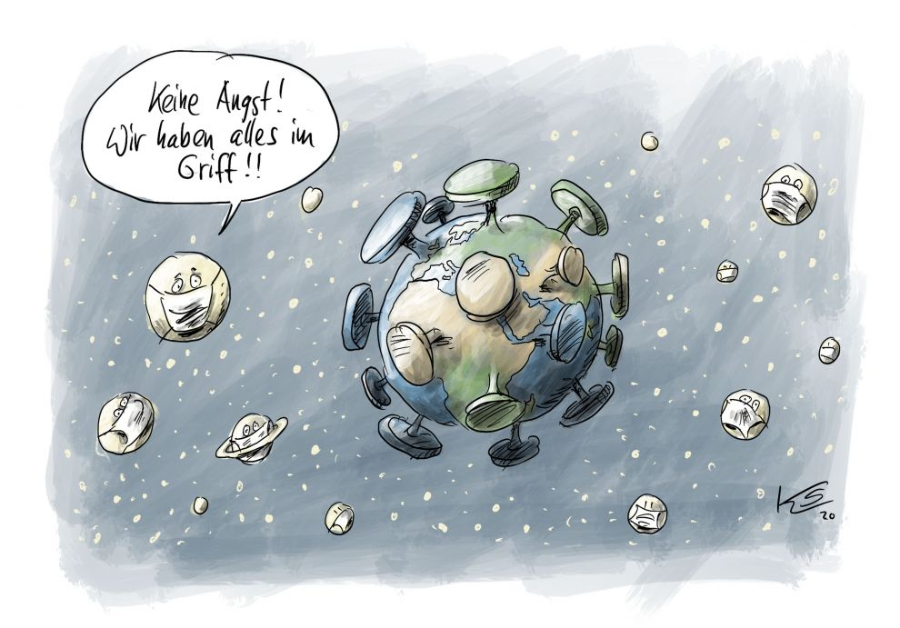 Keine Angst  #Coronavirus  (Cartoon Stuttmann) https://t.co/NeZNpNbpgf