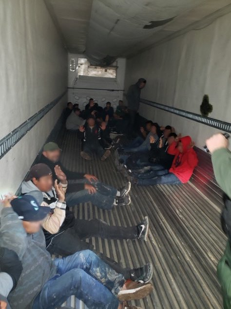 El Centro Sector Border Patrol agents discovered 26 people, including 2 minors, concealed in the bed of a locked tractor trailer Wednesday. Details via @CBPElCentro: