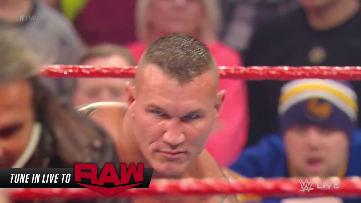 What's wrong with you, @RandyOrton?!   @MATTHARDYBRAND feels the wrath of #TheViper on #RAW with a ruthless assault!