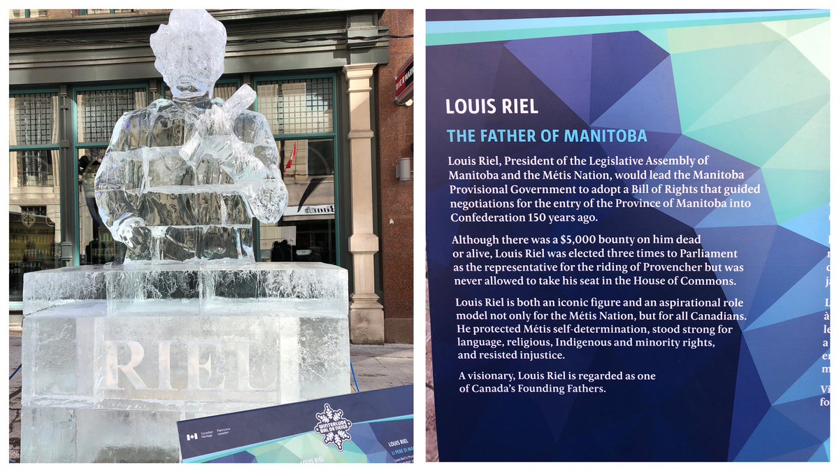 test Twitter Media - Ice sculpture of Louis Riel displayed at Winterlude, the annual winter festival held in Ottawa & Gatineau. Thanks to my good friend MWO Cory Powell for sending this photo and thank you for your service. 🇨🇦 https://t.co/gCNNvTxpd3