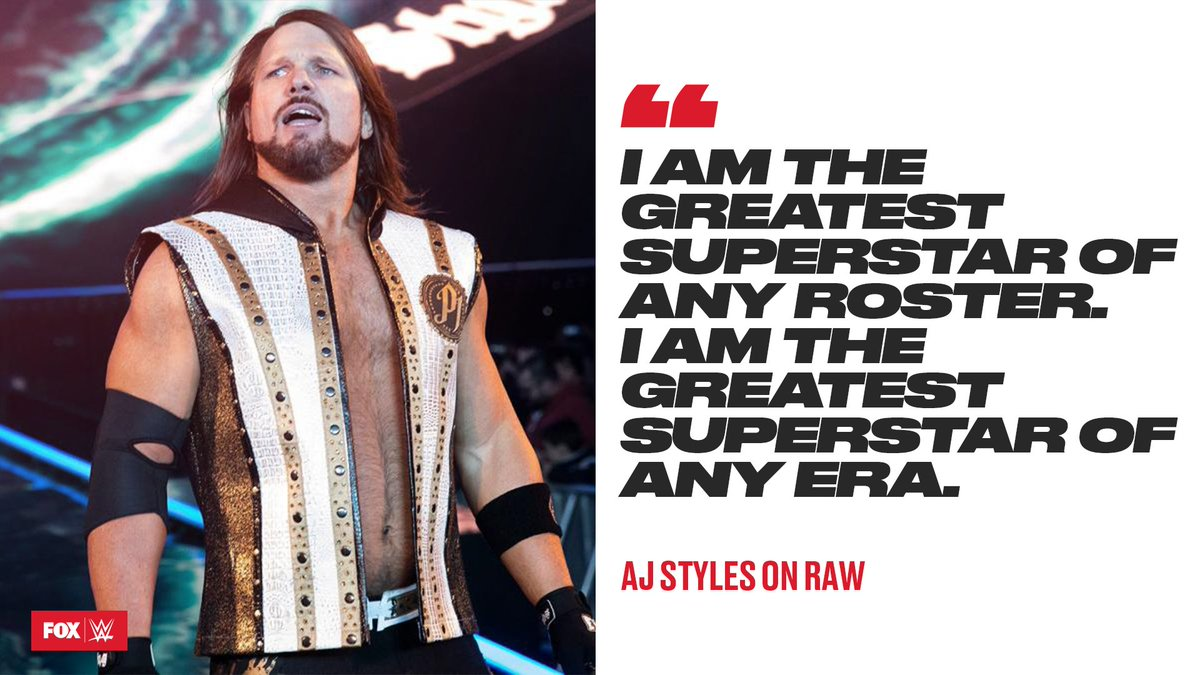 The Phenomenal @AJStylesOrg is a humble guy. #RAW