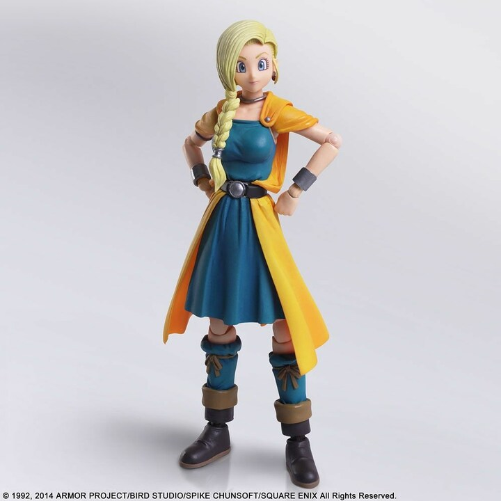 #Bianca from #DQV: Hand of the Heavenly Bride joins the #BringArts action figure family from #SquareEnix! Her skirt is made of a soft material to not interfere with her movements and interchangeable hand parts. Add this heroine to your collection today!