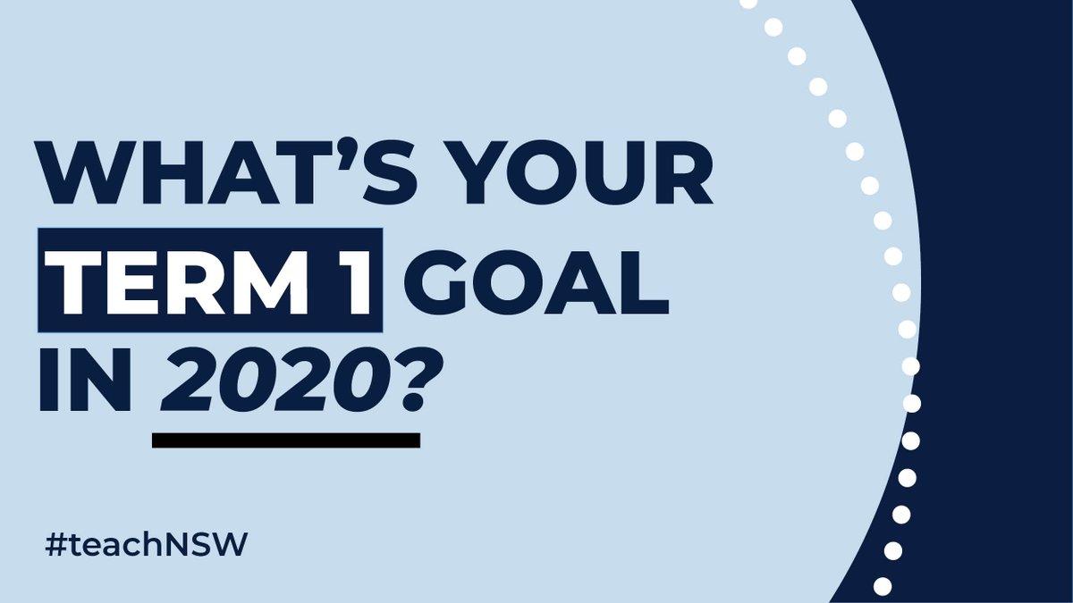 New year, new goals. What do you want to achieve this term? #teachNSW #teacherlife  #nswpublicschools https://t.co/xzjjftiXm7