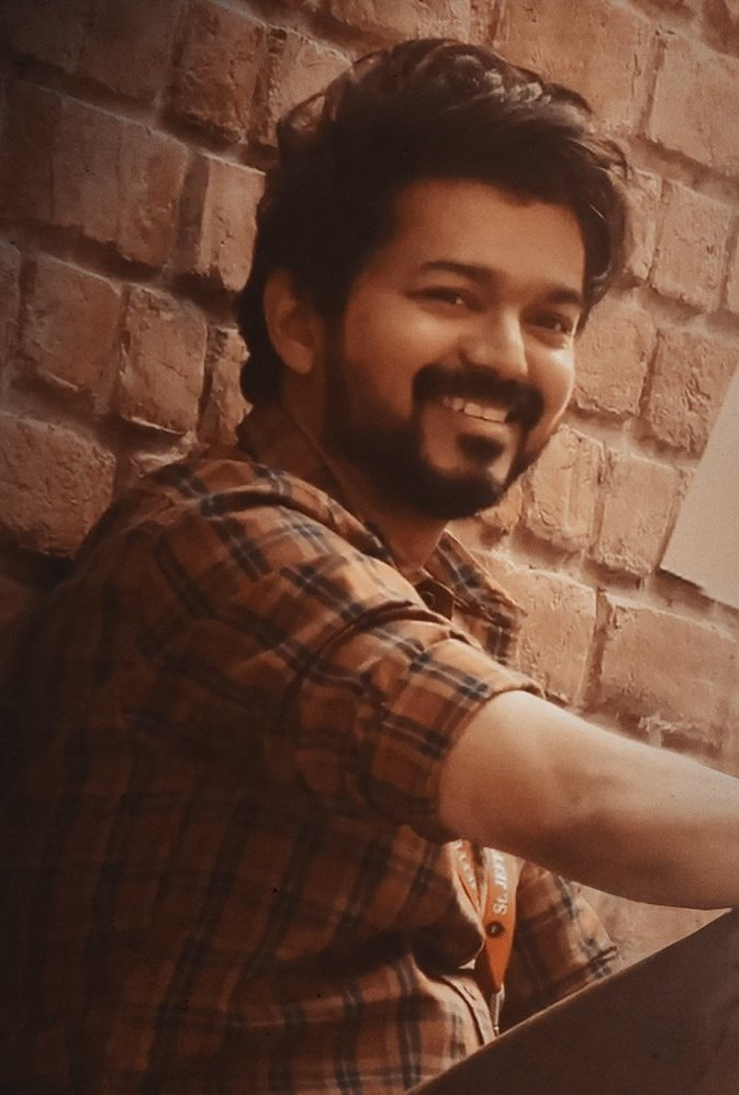 His smile! @actorvijay 😍 #Master
