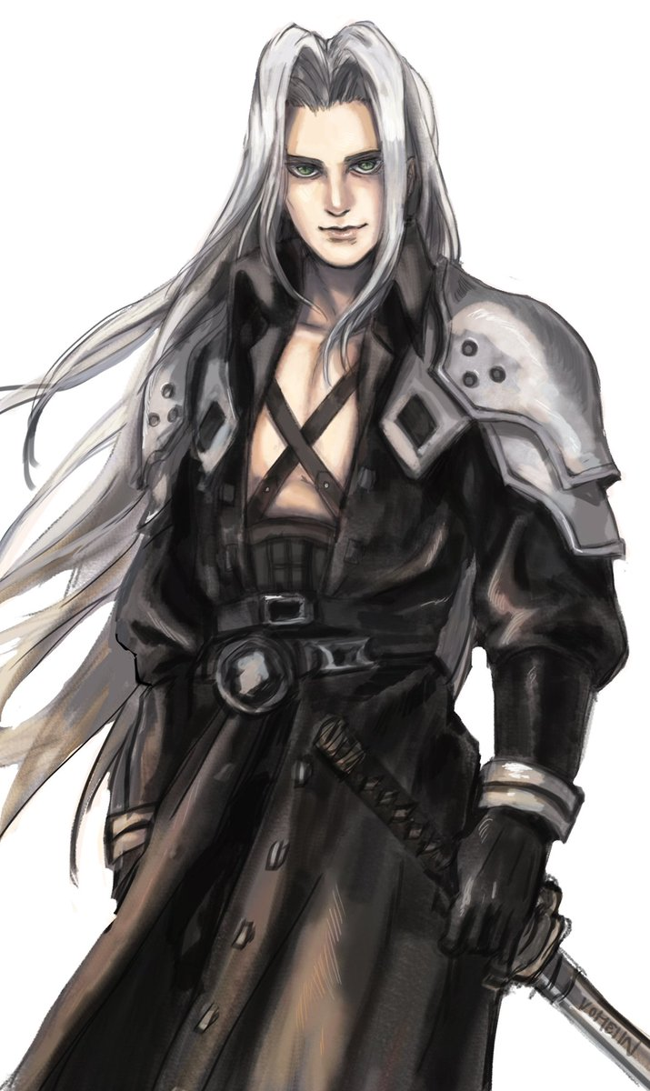 i tried drawing sephiroth but i'm not proud of it #ffvii