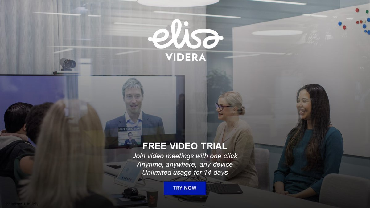 What if your colleagues, customers and partners were just one click away from anywhere, at any time and on any device? Try video conferencing for free with Elisa Videra Cloud Connect today!   #videoconferencing #cloud #cloudconnect  #videocollaboration