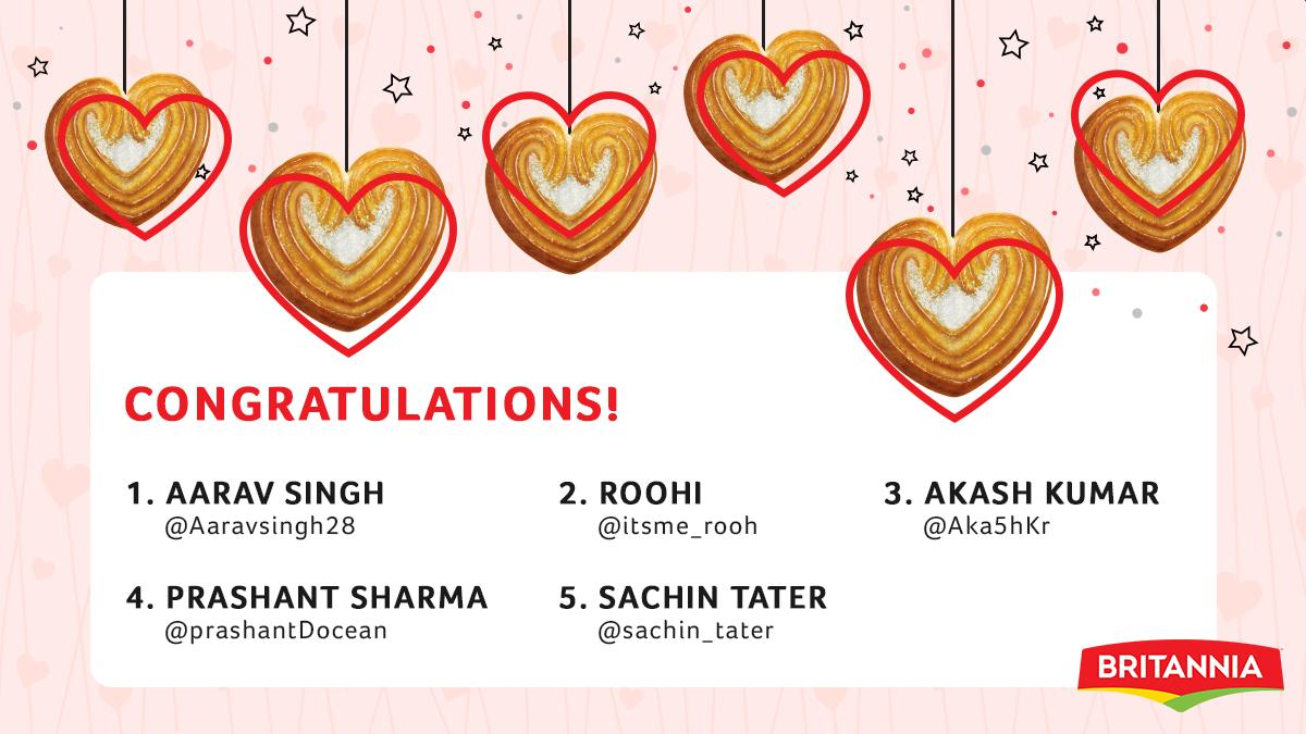 Congratulations to all our lucky winners who won the #ValentinesDay2020 contest! Those hampers are on the way 😄 And to everyone else - there are many many more contests lined up ! Stay tuned and follow this space 🍪 Ting ting ti ting #Britannia #ExcitingGoodness