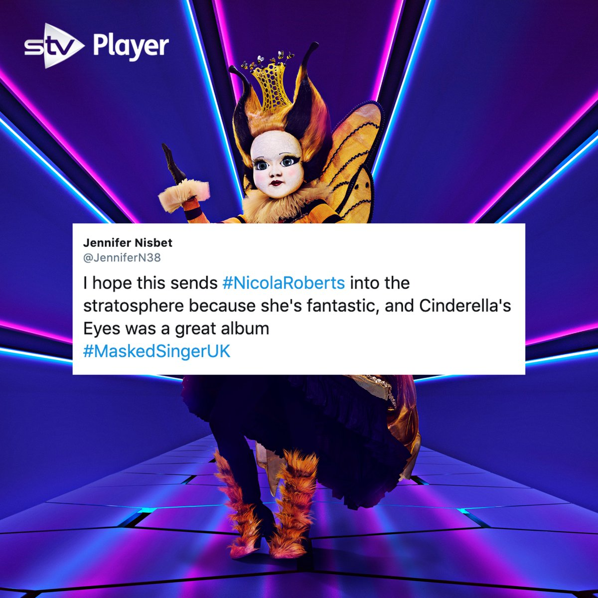 🐝 @NicolaRoberts really was the QUEEN of the #MaskedSinger