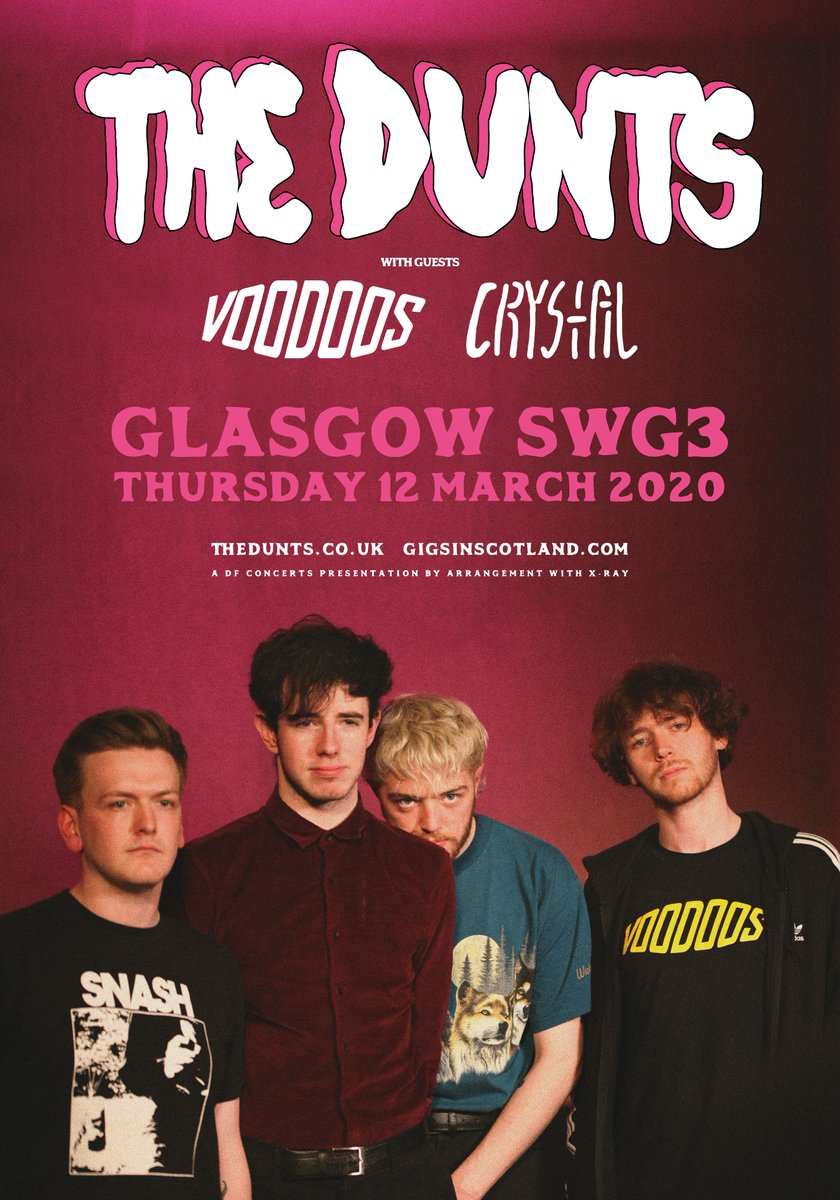 FINAL TICKETS » Down to the final tickets for @TheDunts at @SWG3glasgow on 12th March!   TICKETS ⇾