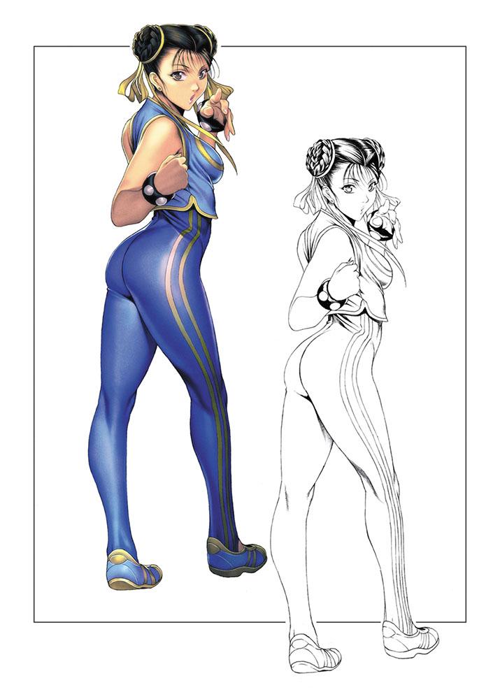 #これを見た人は青色の画像を貼れ 大昔に描いた若い頃の春麗さん