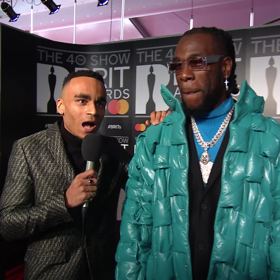 .@burnaboy is nominated tonight for Song of the Year but first, he wants to spice up tonight's menu with the help of @munyachawawa 🍗 #BRITs