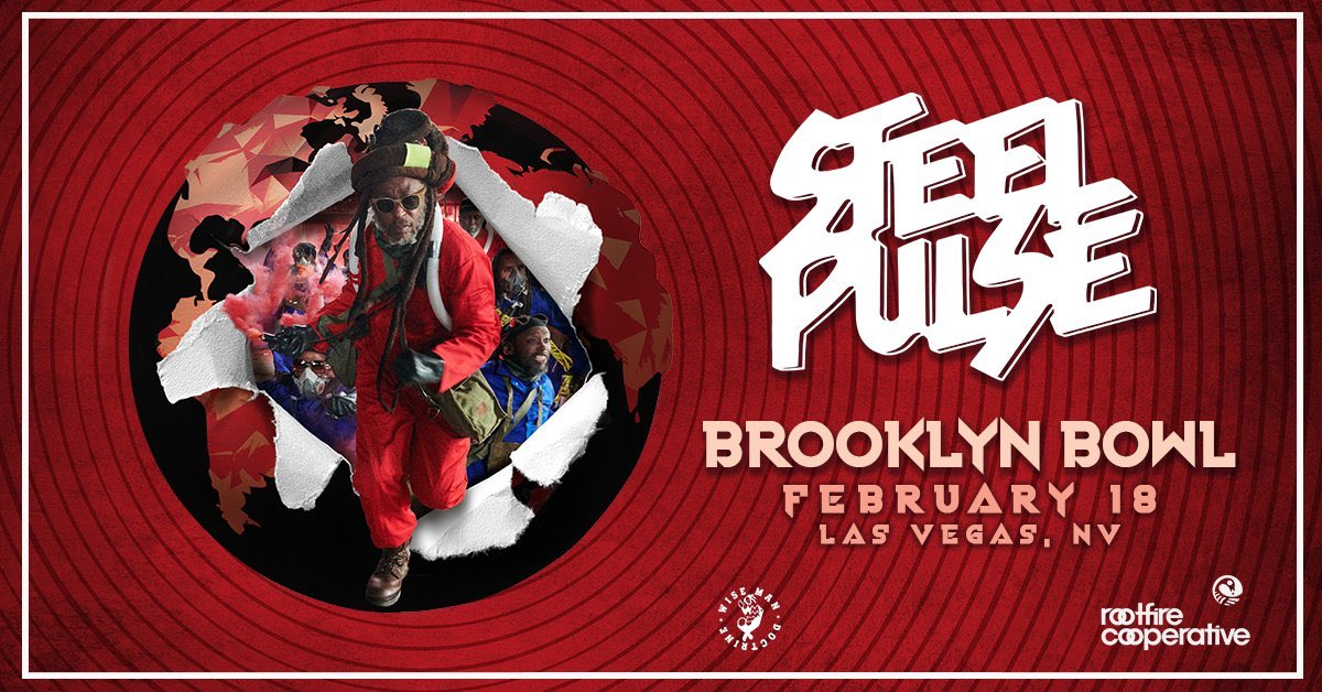 🎰🎰🎰 Tonight Steel Pulse w/ Citizen X @BBowlVegas 🎶🎳🍻🍗 doors 7pm ages 18+ #steelpulse #brooklynbowl #vegasconcerts #livereggaemusic