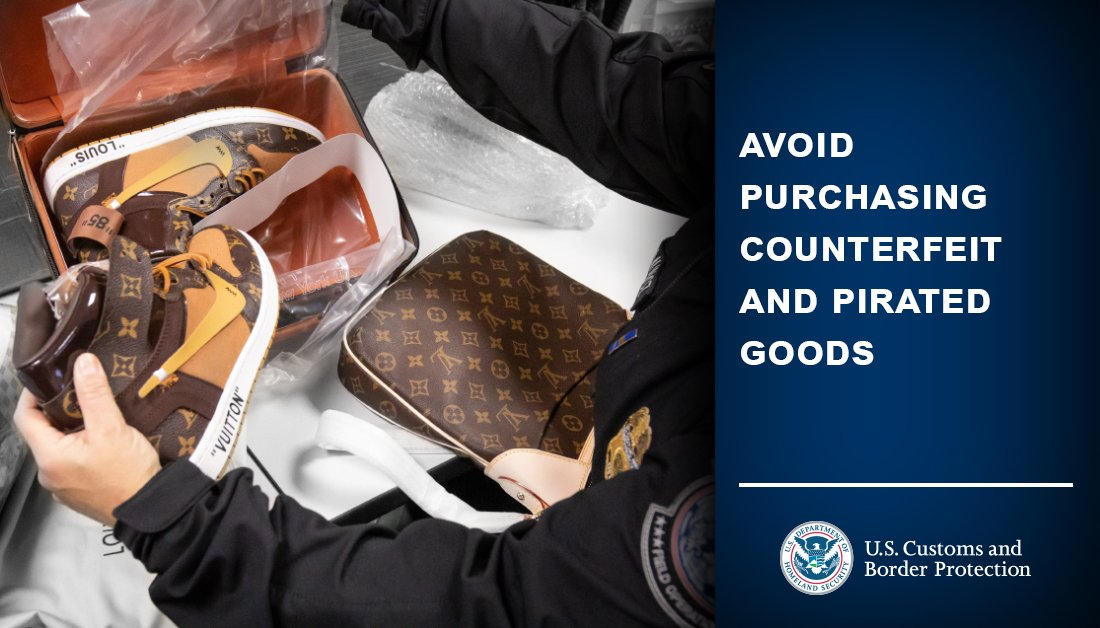 When traveling, avoid purchasing counterfeit and pirated goods. Trade in illegitimate items threatens the U.S. economy and the livelihoods of U.S. workers, and often funds criminal enterprises. Learn more:  #CBPTravelTips #TravelTuesday