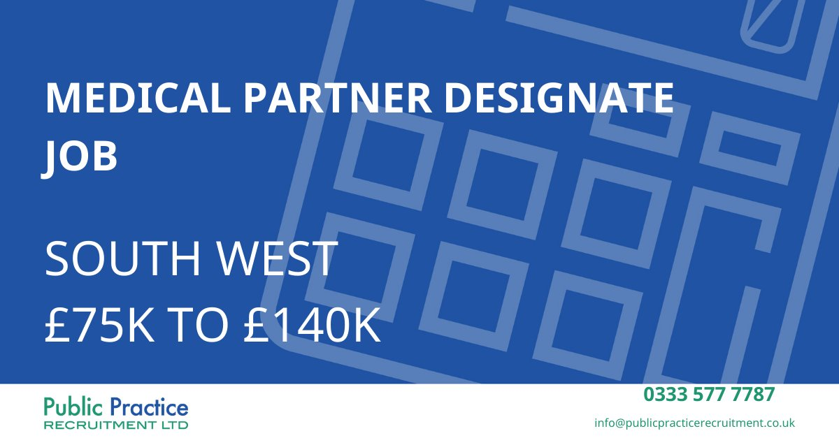 Calling all Medical Partner Designates!    #pprltd #recruitment #accountant #medicalaccountantjobs #accountancyjobs #bristol #southwest #partner #executiverecruitment