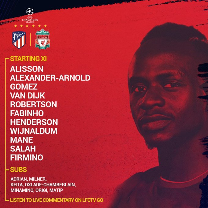 Our #UCL squad is IN 🔒 https://t.co/8nLkeZ3WYG