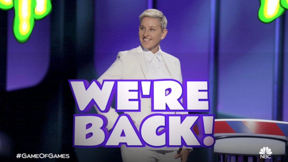 RT @nbcgameofgames: You want more games? YOU GOT 'EM! 👏 @TheEllenShow's #GameofGames will return for Season 4. https://t.co/NwYV1gi263