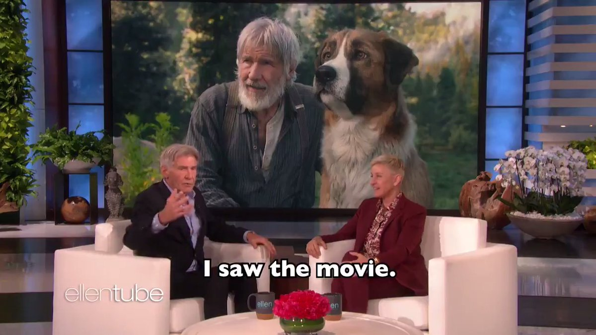 Harrison Ford told me about petting a man with white balls. You heard me. https://t.co/M2R7gv4a2H