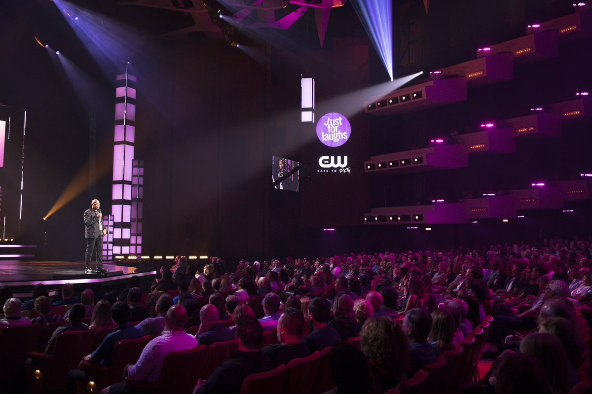 Tomorrow (Wed 2/19) at 8pmET on @TheCW, tune into @howiemandel's 5th Annual All-Star Comedy Gala, recorded at @justforlaughs.  Shared the stage with @ronnychieng @cameronesposito @anjelahjohnson @fortunefunny @Racheldoesstuff