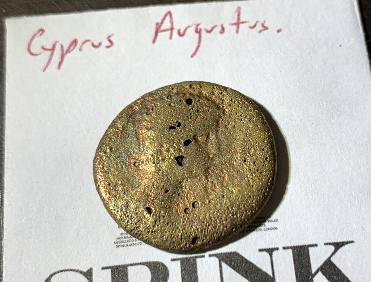 CBP repatriated 7 ancient coins, dating back to 81 BC, to @CyprusinUSA last week. CBP officers initially discovered the coins in an air cargo shipment in April 2009. Details from @CBPMidAtlantic: