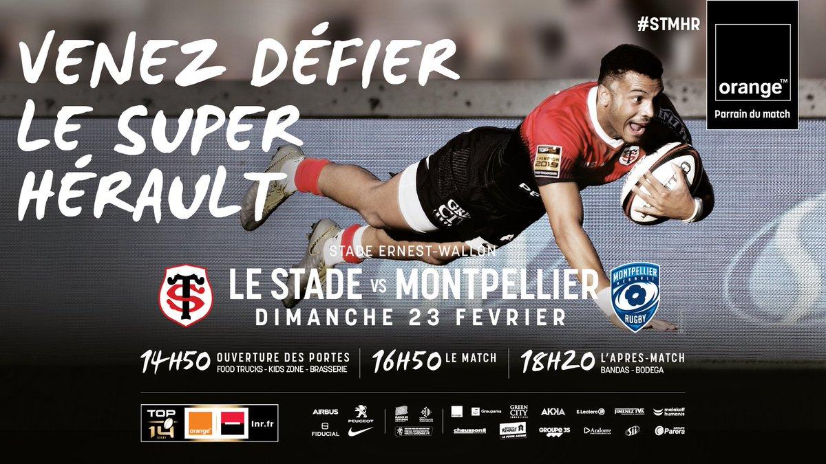 🎟️ Le match #STMHR c'est ce dimanche 23/02 à 16h50, au stade Ernest-Wallon !  RT pour tenter de gagner 3*2 places VIP pour la #J16 de  @top14rugby face au @MHR_officiel ! 😉