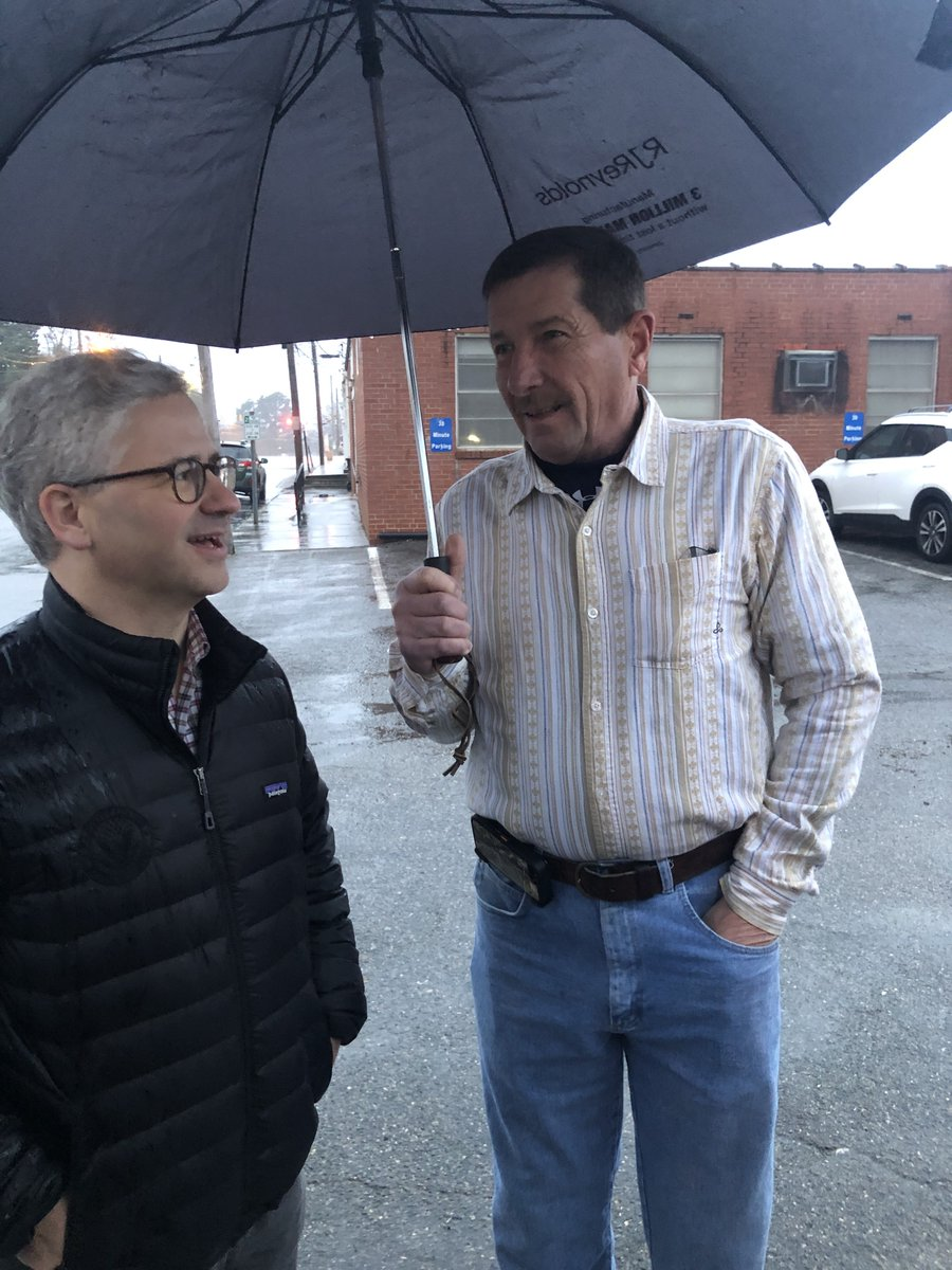 Thanks to everyone that braved the rain to vote in Yadkin County yesterday! #NC10