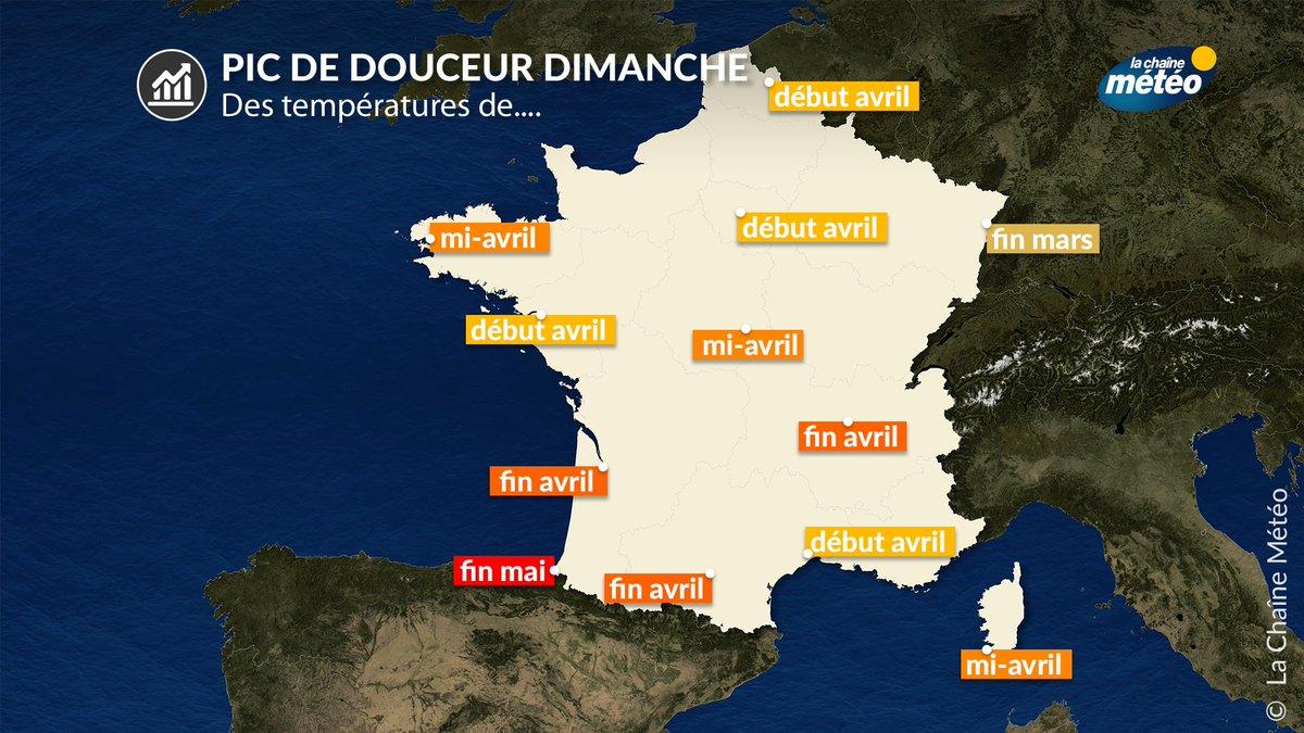 Ce #weekend s'annonce en dehors d'un mois de février au regard des températures prévues. La sensation sera printanière au sud de la Loire.