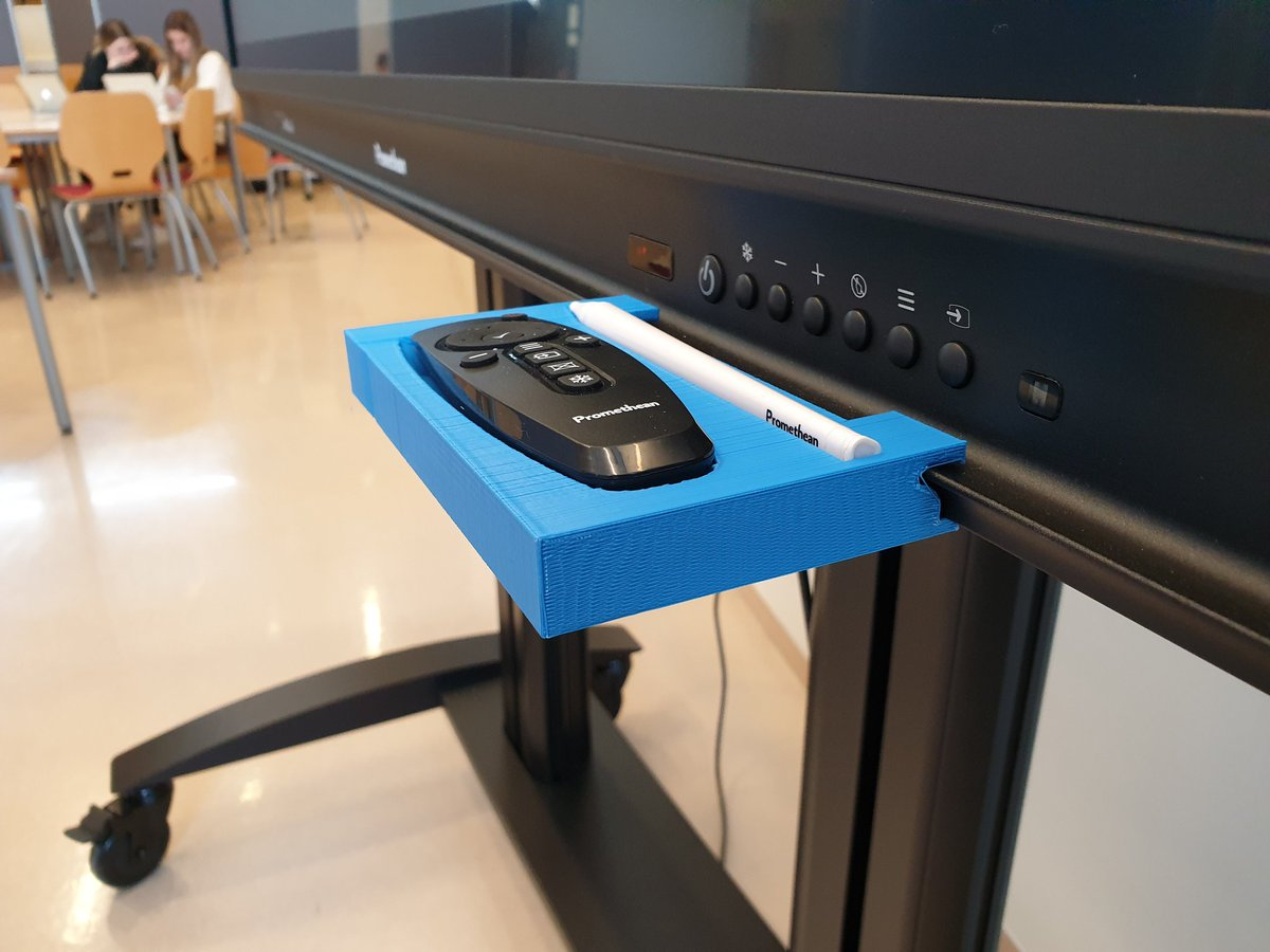 test Twitter Media - After the student tweaked the design a few times we finally have a place for the pen and remote. #edchat #edtech #3Dprinting #menntaspjall https://t.co/6odUQSPeVC