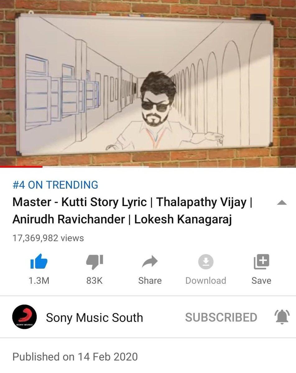 Thalapathy Vijay's #KuttiStory Hits 1️⃣.3️⃣M Likes..! Still Going Strong..!   @actorvijay @Jagadishbliss @MrRathna @XBFilmCreators #Master @MasterMovieOff.