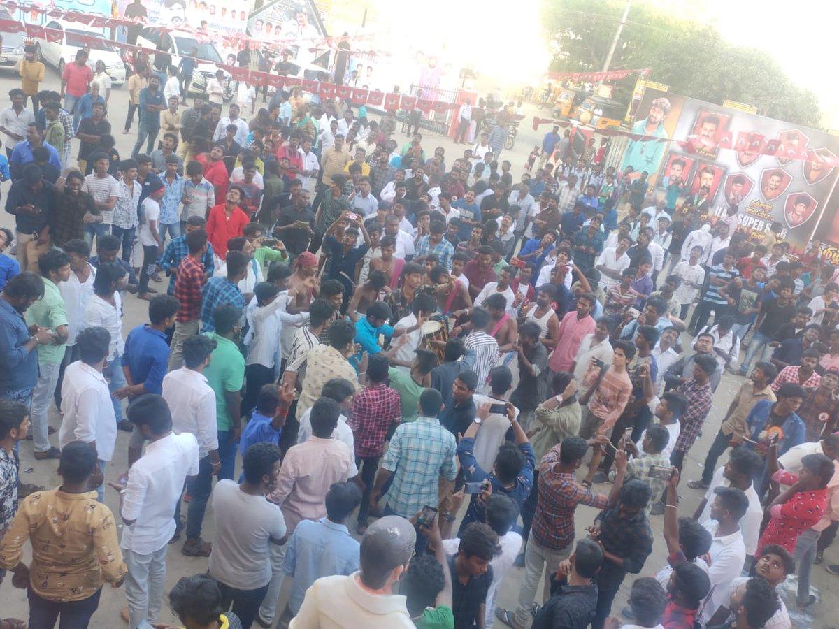 This is not FDFS !! First look and Motion Poster Celebration of #JagameThanthiram   Celebration lvl of  @dhanushkraja fans vera lvl 🔥 #D40FirstLookInRamCinemas