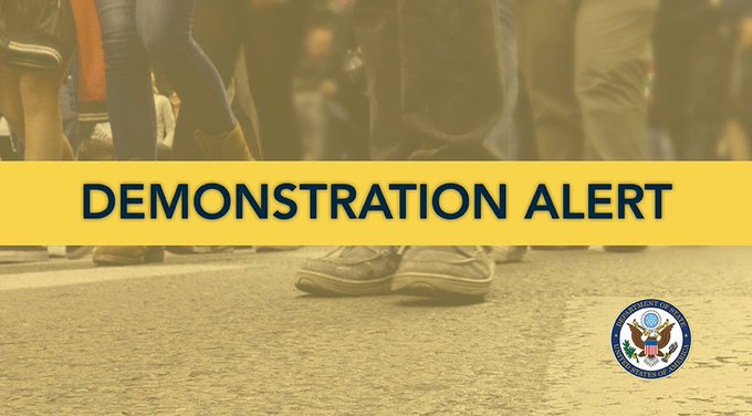 US citizens living in #Algeria: this week marks the one-year anniversary of the #Hirak protest movement. Social media indicate calls for increased protests, possibly including Feb. 20-22, 2020. Please exercise caution and avoid large gatherings. https://t.co/aPkTNRrN8h https://t.co/ASVciCnwX6