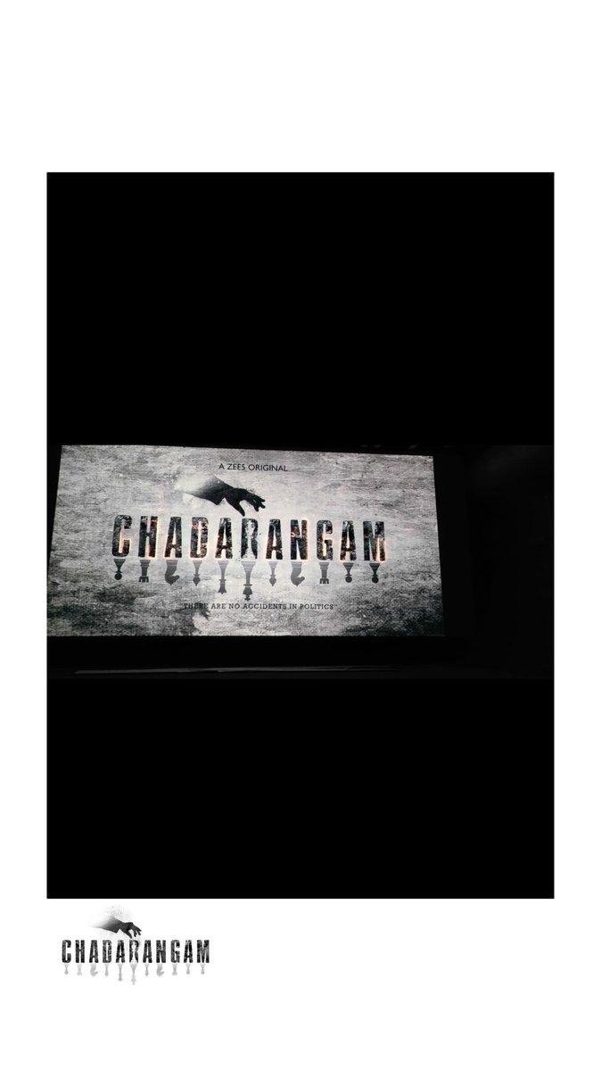 The battle for power has begun!!  #Chadarangam #GameofPower   @actorsrikanth @TheSunainaa @iVishnuManchu #RajAnantha