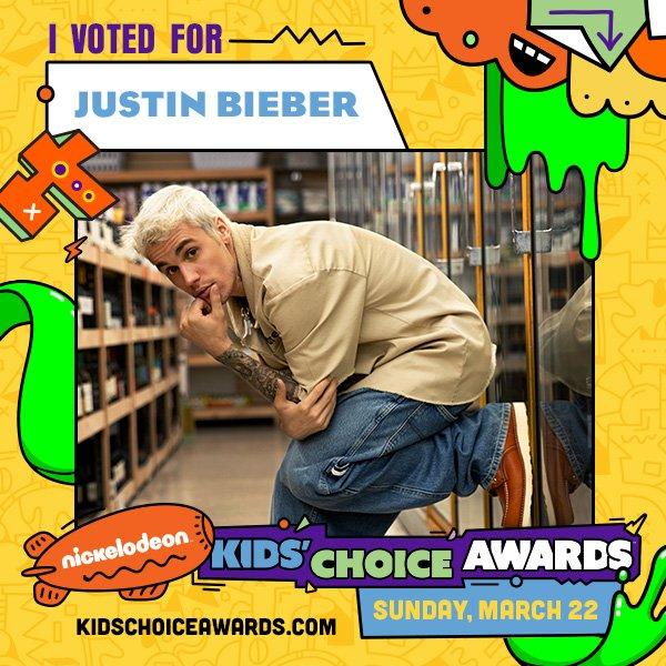 I VOTED FOR JUSTIN BIEBER. RT TO VOTE TOO! @justinbieber #KCA #VoteJustinBieber