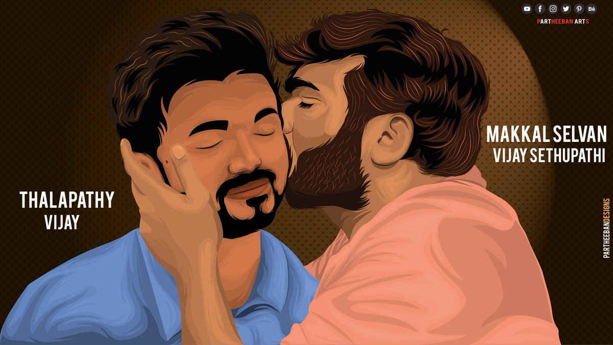 The #MasterKiss With Love from #MakkalSelvan to #Thalapathy !!