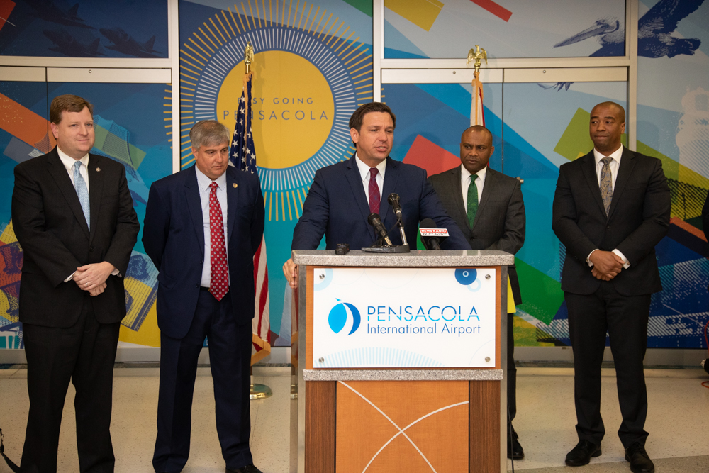 Today, it was my pleasure to announce that my administration is awarding the @cityofpensacola $4.8 million through the Florida Job Growth Grant Fund for infrastructure enhancements to @flypensacola. More here –