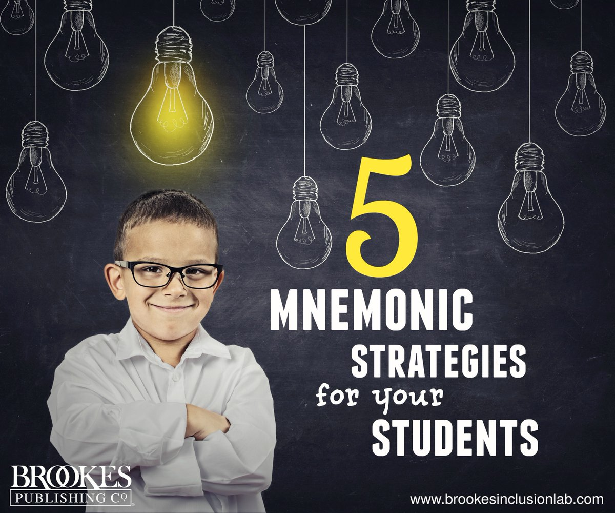 What's your favorite mnemonic strategy for helping students retain key information? This article introduces 5 of them:  #edchat #spedchat #teaching