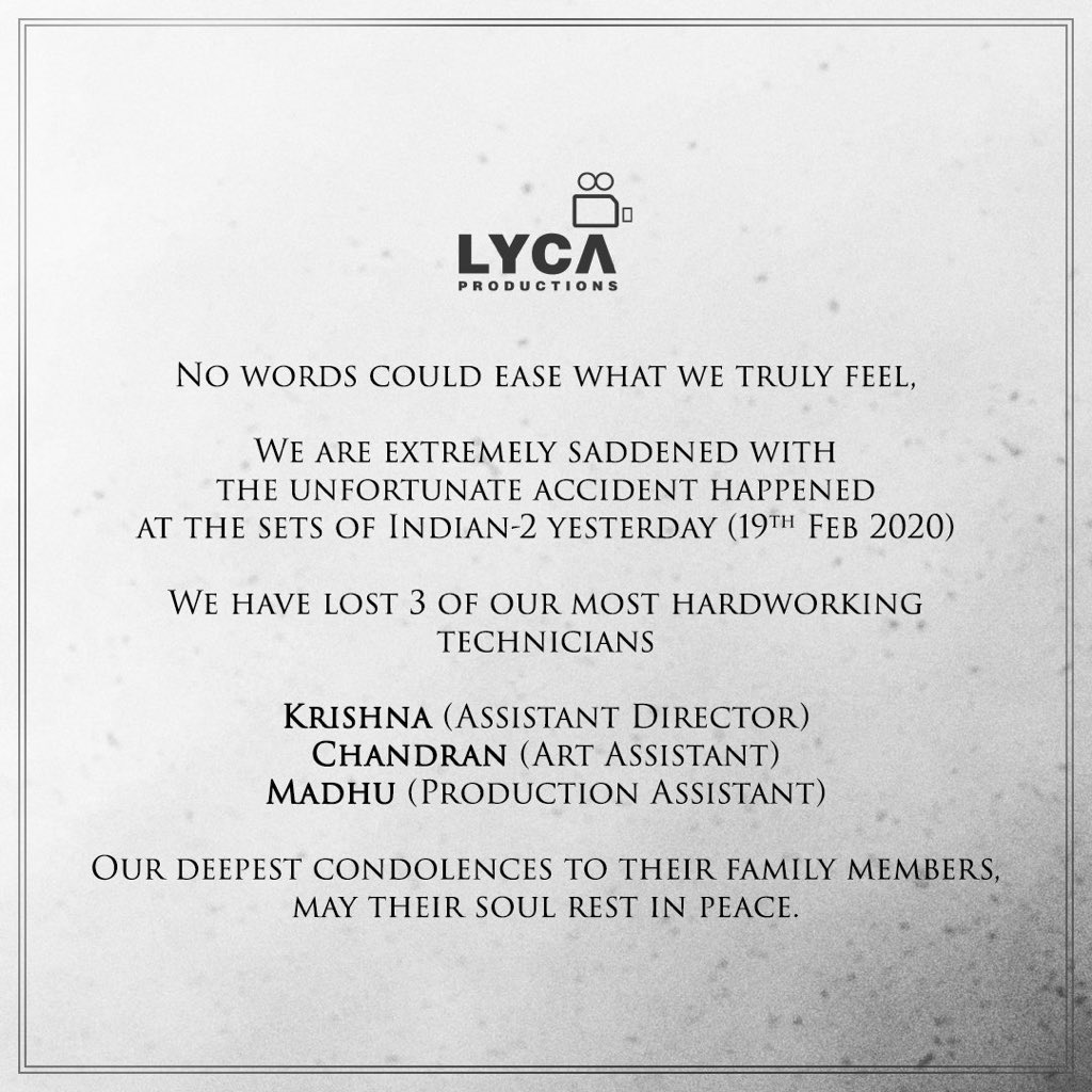 So shocked to hear this... #RIP @LycaProductions