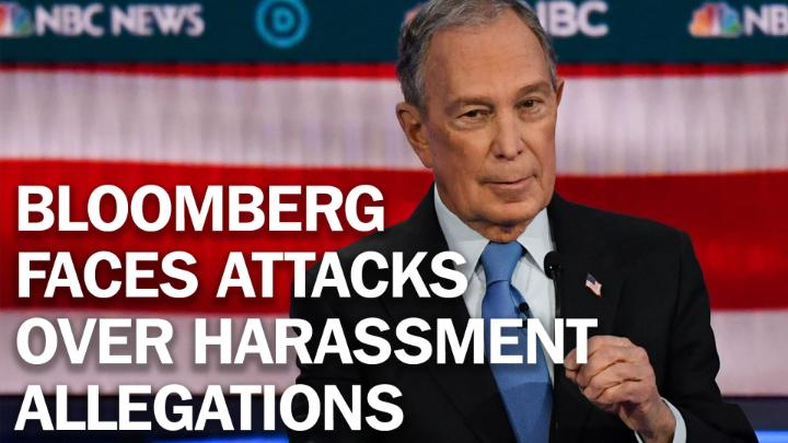 Michael Bloomberg responds to sexual harassment allegations and NDAs at the #DemDebate