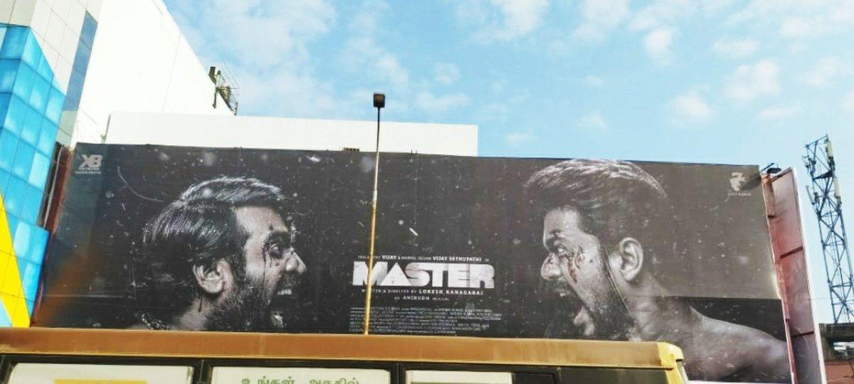 #ThalapathyVijay's #Master hoardings Placed at @rakkicinemas Ambattur! #MasterMania Starts Everywhere before a month of Release💥  @actorvijay @VijaySethuOffl @Dir_Lokesh @Jagadishbliss @MrRathna @MasterMovieOff.