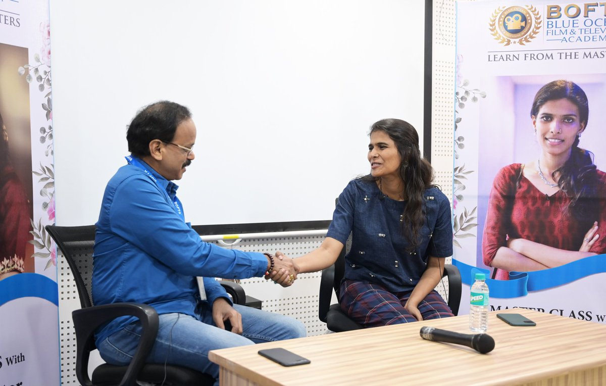 Had a superb Master Class with @halithashameem at @BOFTAindia yesterday. Great learning time for students & me too especially on Indie Filmmaking 👍👍👍