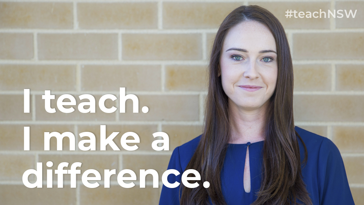 """""""When you're working in a NSW public school you are working with children from all different backgrounds and cultures, and that's what I really wanted to do"""". Lauren, teacher in a NSW public school. #teachNSW #greatplacetowork #nsweducation https://t.co/a2bkCtu4LI"""