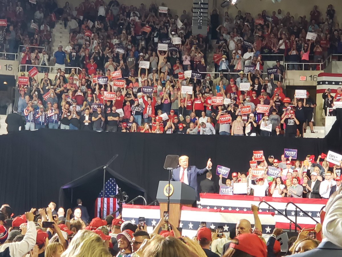 Record-breaking numbers came out for a record-breaking #POTUS @realDonaldTrump at #TrumpRallyAZ! #KAG @AZGOP