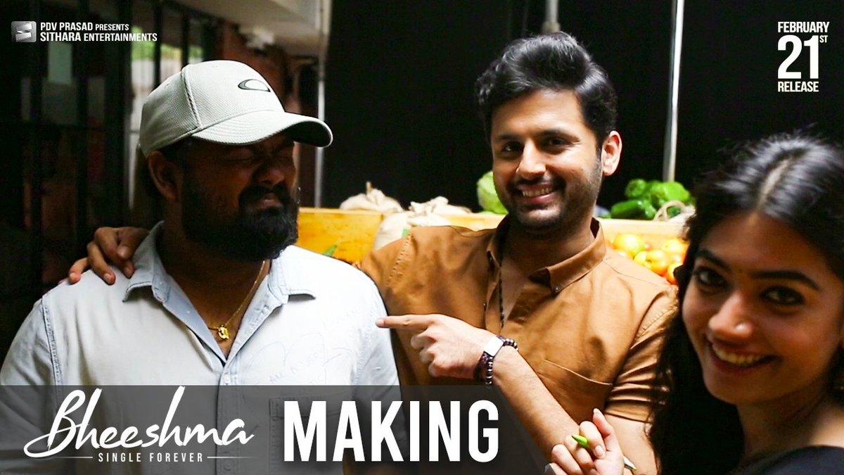 Making Video Of @actor_nithiin & @iamRashmika's #Bheeshma is Here!   ▶