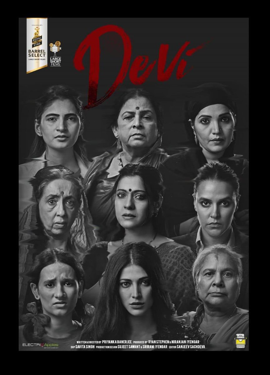 So excited to the share the poster of #Devi my first short film with these nine incredible women !!produced @ElectricApplesE for @LargeShortFilms