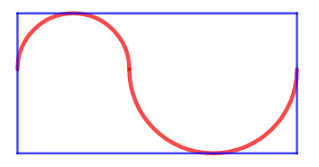 #puzzle, #maths, #jeu, #enigme Two semicircles... The perimeter of the rectangle is 6. What is the length of the red line ? 😀